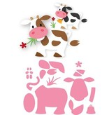 Marianne Design Stansning skabelon: Eline ko