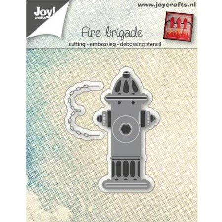 Joy!Crafts Perforación tema plantilla: dispensador de agua contra incendios