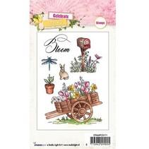 Transparante Stamp: thema, tuin