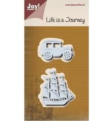 Joy!Crafts Stanzschablonen: Journey - Segelboot & Oldtimer