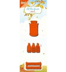 Joy!Crafts Stanzschablonen: Milchflasche, Kiste, Kanne