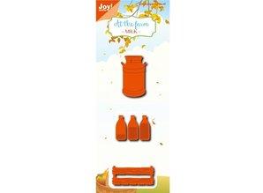 Joy!Crafts Troqueles de corte: Botella de leche, caja, pote