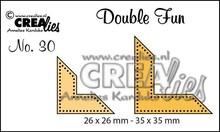 Crealies und CraftEmotions Stanschablonen: Ecke mit Punkte