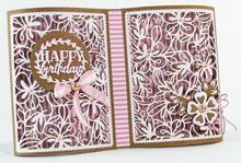 TONIC troqueles de corte: Flor del marco de Deco