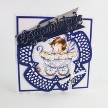 Stanzschablonen: Deco Petunia Trellis