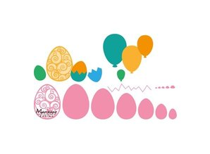 Marianne Design Punching template: Easter eggs and balloons!
