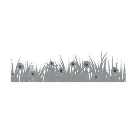 Joy!Crafts Stanzschablone: Bordüre Gras mit Blümchen