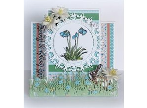 Joy!Crafts Punching template: Border grass with flowers