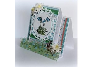 Joy!Crafts Stansning skabelon: Border græs med blomster