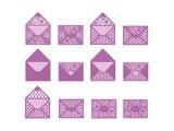 TONIC Stempelen en embossing sjabloon: envelop, voor A6-kaarten