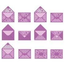 Stempling og prægning skabelon: konvolut, for A6-kort