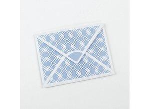 TONIC Stempling og prægning skabelon: konvolut, for A6-kort
