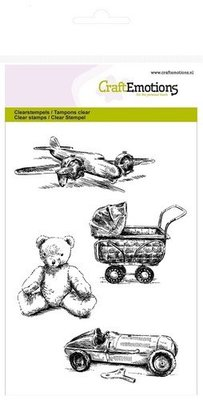 Crealies und CraftEmotions Stransparente timbro: Vintage giocattolo bello del bambino