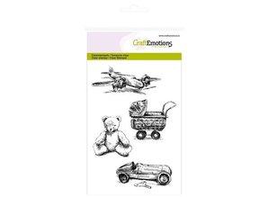 Crealies und CraftEmotions Stransparente stamp: Vintage Toy Lovely Baby
