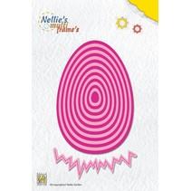 plantilla de perforación: Huevo de Pascua