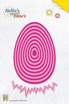 Nellie snellen modello di punzonatura: Uovo di Pasqua