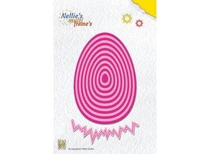 Nellie snellen plantilla de perforación: Huevo de Pascua