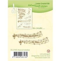 Transparent stamp: Musical notation