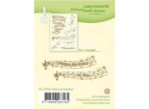 Leane Creatief - Lea'bilities Transparent Stempel: Musical notation