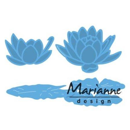 Marianne Design La perforación de la plantilla: Tiny nenúfar