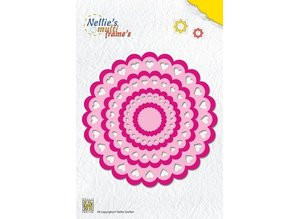 Nellie snellen Stansning skabelon: Rosette hjerte
