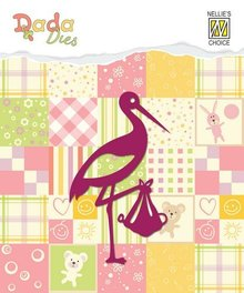 Nellie snellen Punching template: Stork
