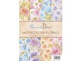 Wild Rose Studio`s A4 Paper Pack akvarell blomster, 40 ark