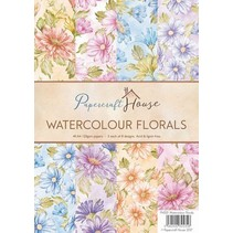 A4 Paper Pack watercolor florals, 40 sheets