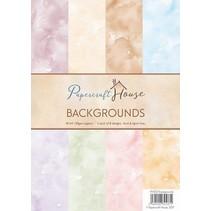 A4 Paper Pack Watercolour Hintergrund, 40 Bogen