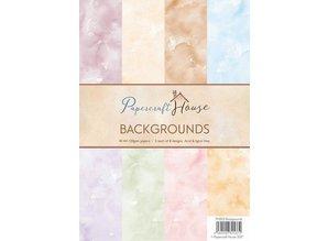 Wild Rose Studio`s A4 Paper Pack Watercolour Hintergrund, 40 Bogen