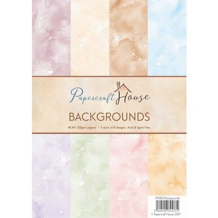 Wild Rose Studio`s A4 Paper Pack watercolor background, 40 sheets