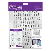Transparent stamps with large and small letters