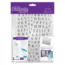 Stempel / Stamp: Transparent Gennemsigtige frimærker med store og små bogstaver
