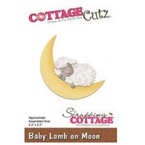 Punching template: Sleeping sheep and moon