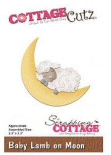 Cottage Cutz Stansning skabelon: Sleeping får og måne