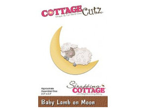 Cottage Cutz Punching template: Sleeping sheep and moon