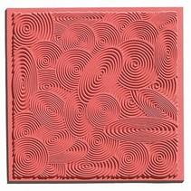 1 textuur mat spiralen, 90 x 90 mm