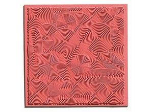 1 texture mat Spirals, 90 x 90 mm