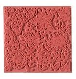 1 textuur mat, bloemen, 90 x 90 mm