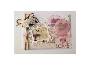Joy!Crafts Stamping template: Love balloon