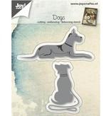Joy!Crafts plantilla de perforación: perros tumbado y sentado
