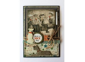 Joy!Crafts Stamping template: Dogs, lying and sitting