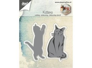 Joy!Crafts Stamping template: cats, playing and sitting
