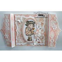 Stamping template, border