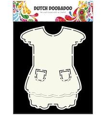 Dutch DooBaDoo A5 tipo de tarjeta de plantilla, vestido