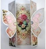 Dutch DooBaDoo A4 skabelon kort Butterfly Art