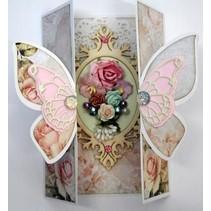 A4 skabelon kort Butterfly Art