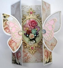 Dutch DooBaDoo A4 carta di template farfalla Art