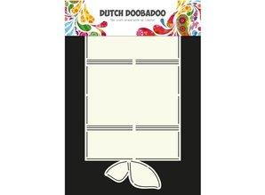 Dutch DooBaDoo Arte de la mariposa tarjeta de plantilla A4