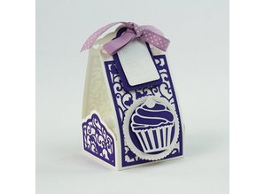 TONIC Stamping and Pre-Template: Cupcake & Treat Box The set